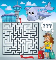 Maze 3 with tourist woman