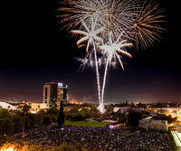 Fourth of July Celebration Fireworks over Downtown San Jose