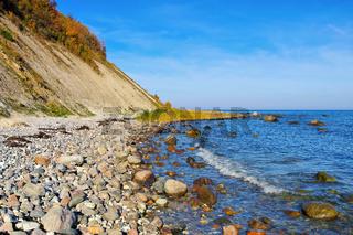 Steilküste am Kap Arkona, Insel Rügen in Deutschland - coast Kap Arkona, Ruegen Island in Germany