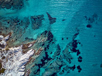 Beautiful rocky coastline aerial view