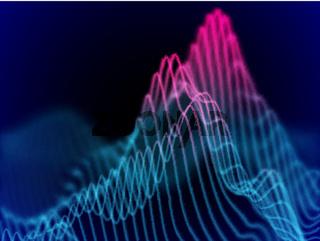 Big data abstract visualization: business charts analytics.
