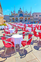 The Saint Mark's square in Venice
