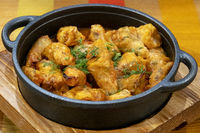 Pot of stuffed cabbage rolls