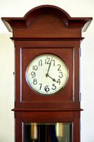 old wooden grandfather clock
