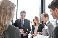 Business people work with documents