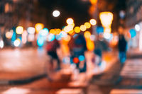 Night city is out of focus