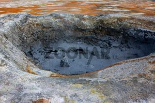 Namafjall Hverir Geothermal Area Iceland.