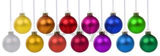 Weihnachten Weihnachtskugeln Banner Weihnachts Kugeln Farben Deko Dekoration hängen Freisteller