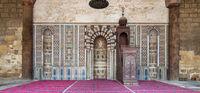 Engraved Mihrab (niche) and wooden Minbar (Platform), Mosque of Al Nasir Mohammad Ibn Qalawun, Citadel of Cairo, Egypt