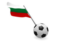 Soccer ball with the flag of Bulgaria