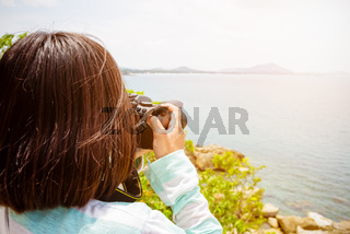 Young woman photography