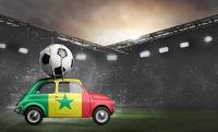 Senegal car on football stadium