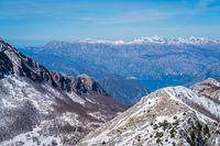 Winter landscape of Kotor Bay