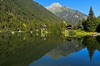 Bergsee Lac de Champex, Champex-Lac, Wallis, Schweiz