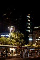 Busbahnhof Mainz nachts
