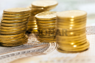 Polish yellow coins