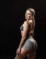 Muscular woman portrait