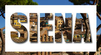 Siena Italy in letters with border
