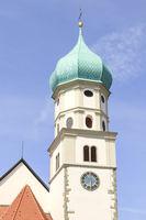 Kirchturm von St. Georg, Wasserburg, Bodensee