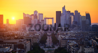 La Defense at sunset