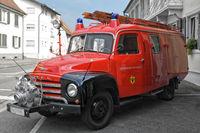 Feuerwehr Fahrzeug historisch