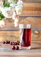Glass of cherry juice
