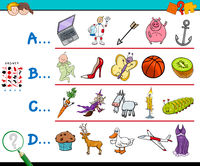 first letter of a word educational game for children