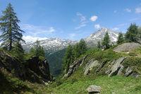 Wanderweg im Ahrntal bei Prettau, Südtirol