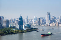 shanghai cityscape in morning