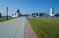 Red square and Tobolsk Kremlin. Tobolsk. Tyumen Oblast. Russia