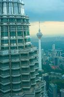 Modern Kuala Lumpur tv tower