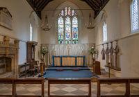 Interior of St Mary the Virgin church in village of Hambleden