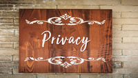 Street Sign to Privacy