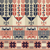 Palestinian embroidery pattern 24