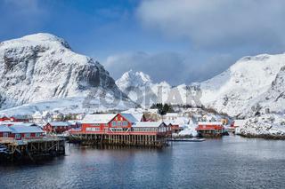 'A' village on Lofoten Islands, Norway