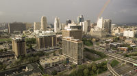 A Rainbow Forms above The Downtown City Center of Kansas City Missouri
