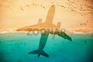 Flight to the beach