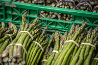 Bunches of asparagus for sale