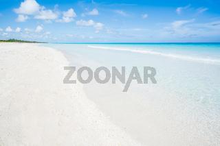 Beautiful beach of Varadero during a sunny day