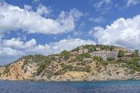 Coastal rocky landscape sea Santa Ponsa Mallorca