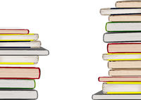 Books Stacks Isolated on White Background