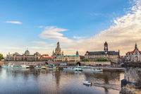 Dresden Germany, city skyline at Elbe River