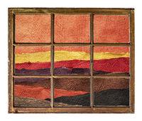 abstract desert landscape window view