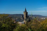 Palais Wernigerode with blue sky