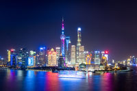 charming shanghai at night