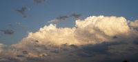 High Rolling Cumulus Clouds in a Blue Sky