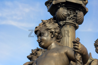 Sculpture on the Pont Alexandre 3 in Paris