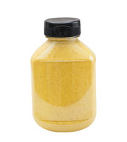 Horseradish Mustard bottle on white background