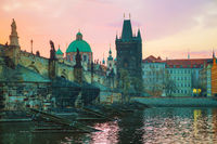 The Old Town Charles bridge tower in Prague