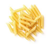 Top view of  penne lisce pasta